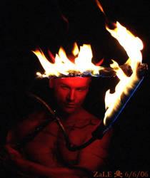 Satan-Crown of Flames-666-1 by zaleone
