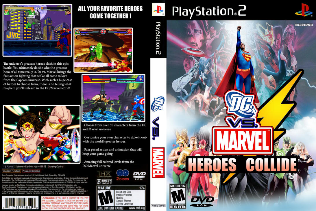 Dc Vs Marvel Ps2 By Captainart On Deviantart
