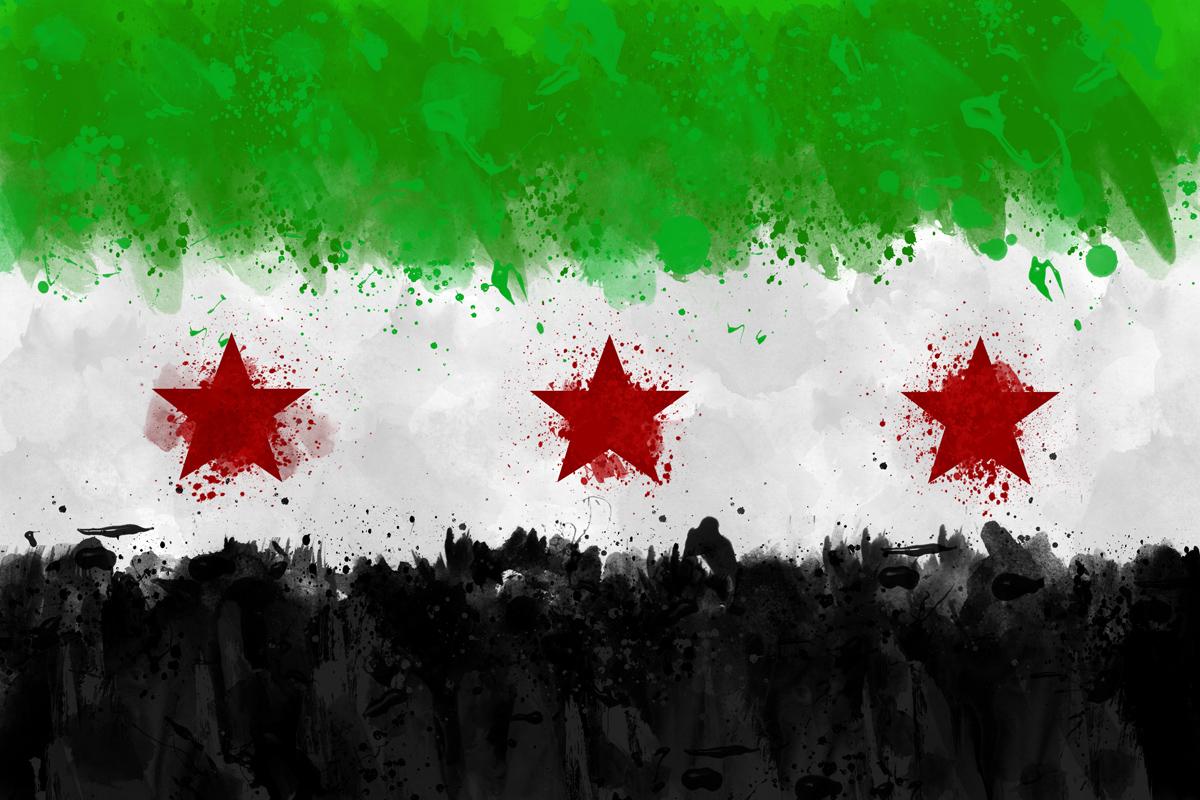 صورة خلفية ويندوز علم الثورة السورية
