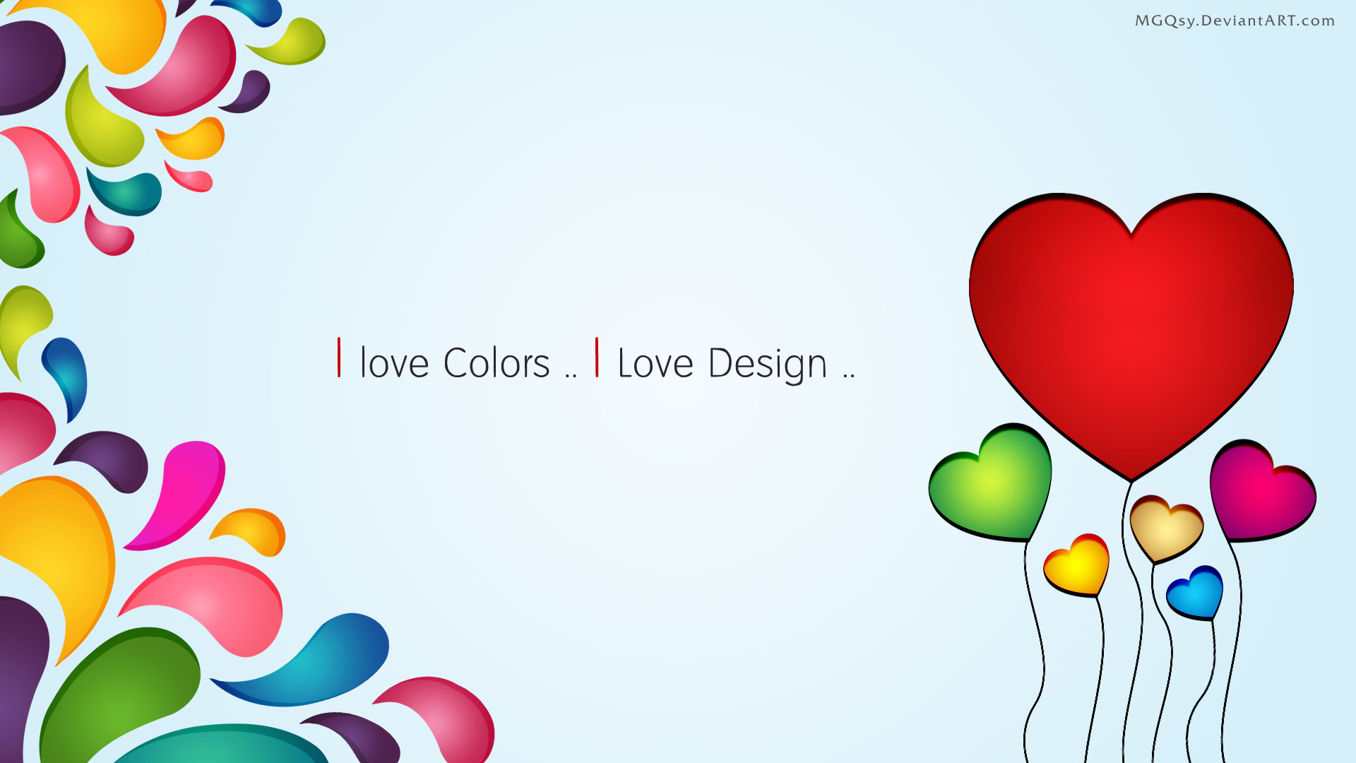 I Love Colors Wallpaper By MGQsy