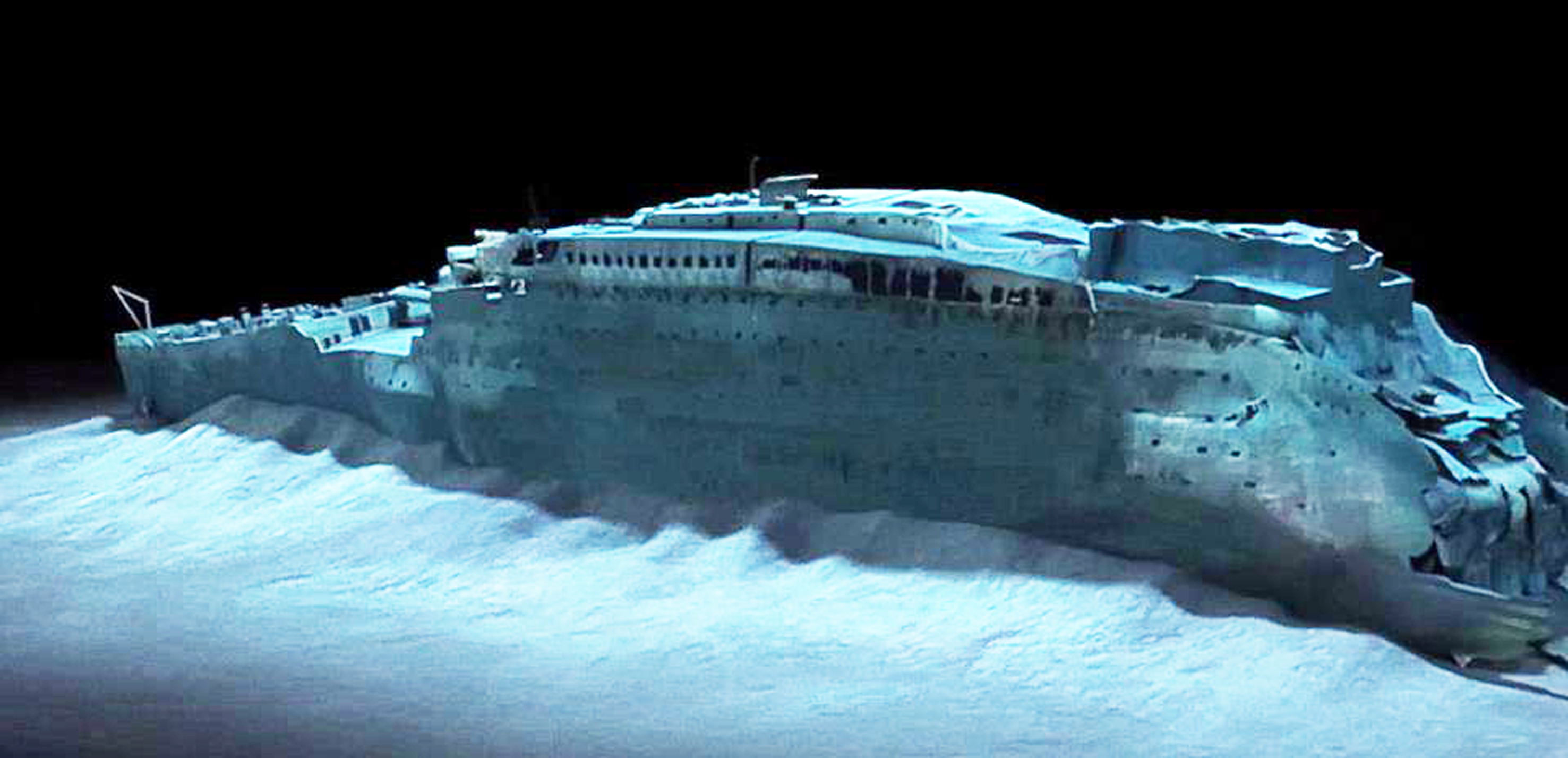 Titanic wreck starboard enhanced by lusitania25 on DeviantArt