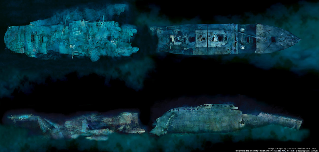 Titanic full wreck by lusitania25 on DeviantArt