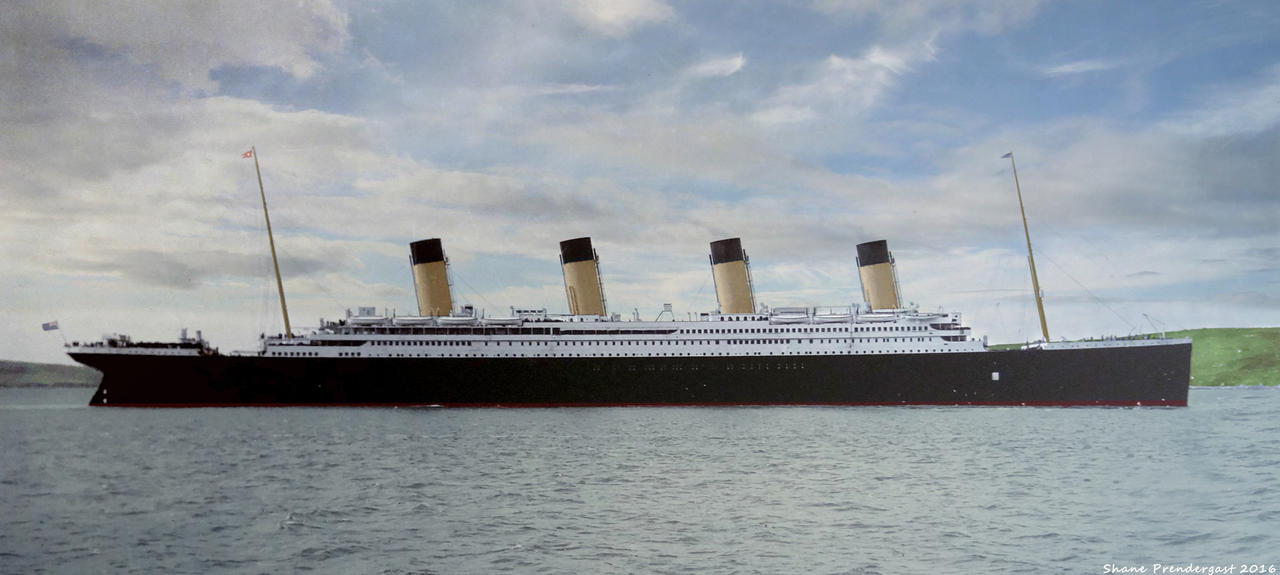 titanic at queenstown by lusitania25 on deviantart