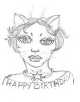 Cat B by DoodlAnne