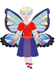New chibi blue fairy butterfly
