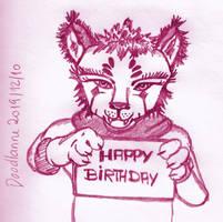 Birthday 2019-12-10 Pink by DoodlAnne