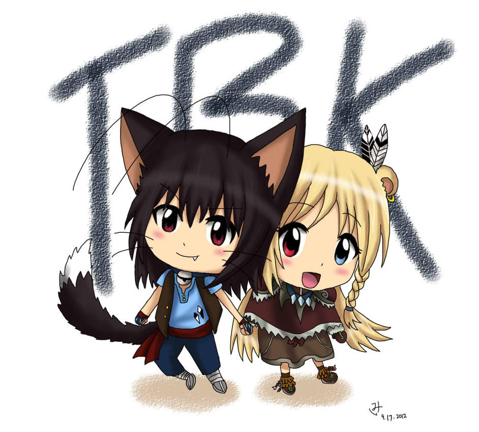 TBK - Kura Nita chibis by AdrenaVeris