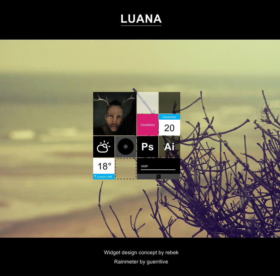 LUANA for Rainmeter by guerrilive