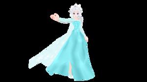 MMD Elsa (DL on the right) by jenaizaki
