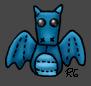 Blue Arboreal Bishel Dragon Beanie