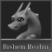 Small Bishen Realm Button - Athena (Grayscale) by indyana