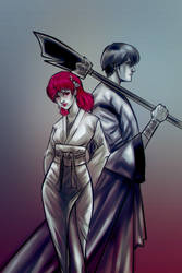 Yona and Hawk -commission-