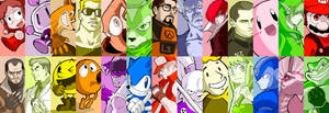 Videogame Character Alphabet