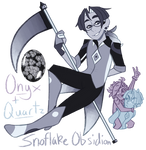 FT - (Onyx/Quartz) Snowflake Obsidian by TheZodiacLord