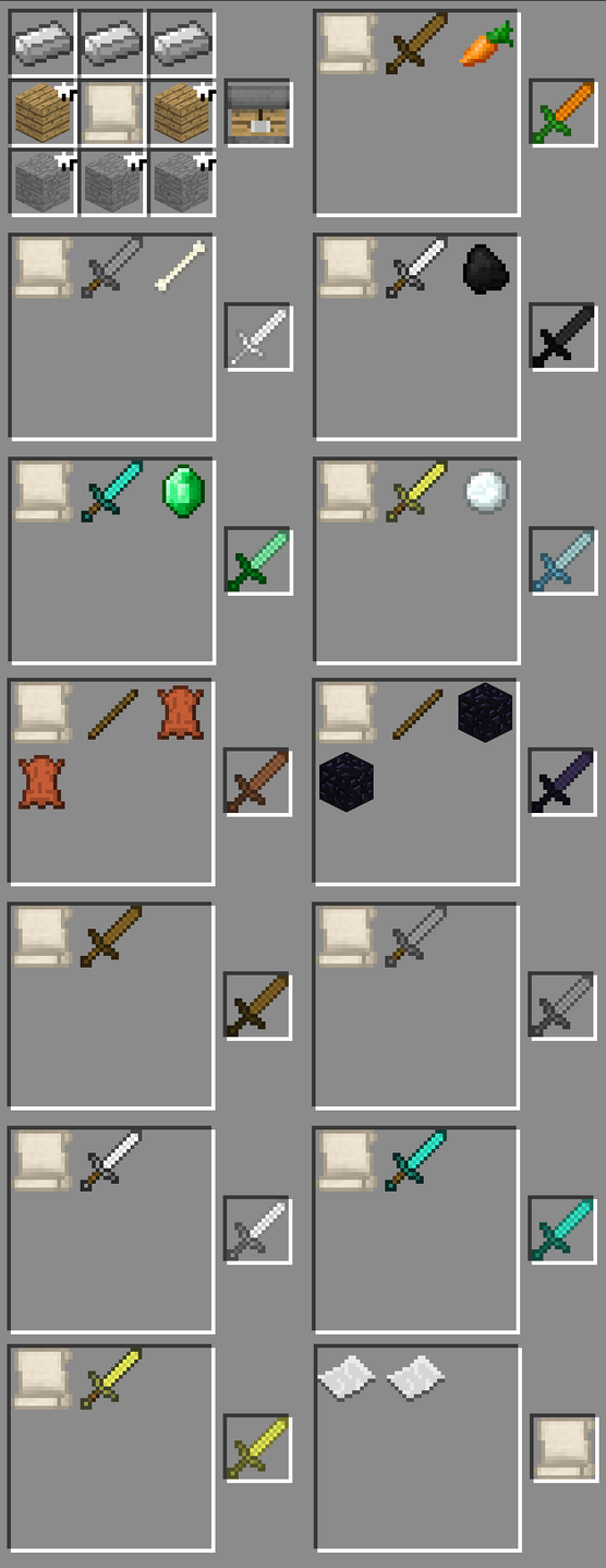 Custom sword forge 1 642 890 600 swords 1 wip - How do you use a crafting table in minecraft ...