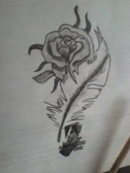 rosa bianca e nera