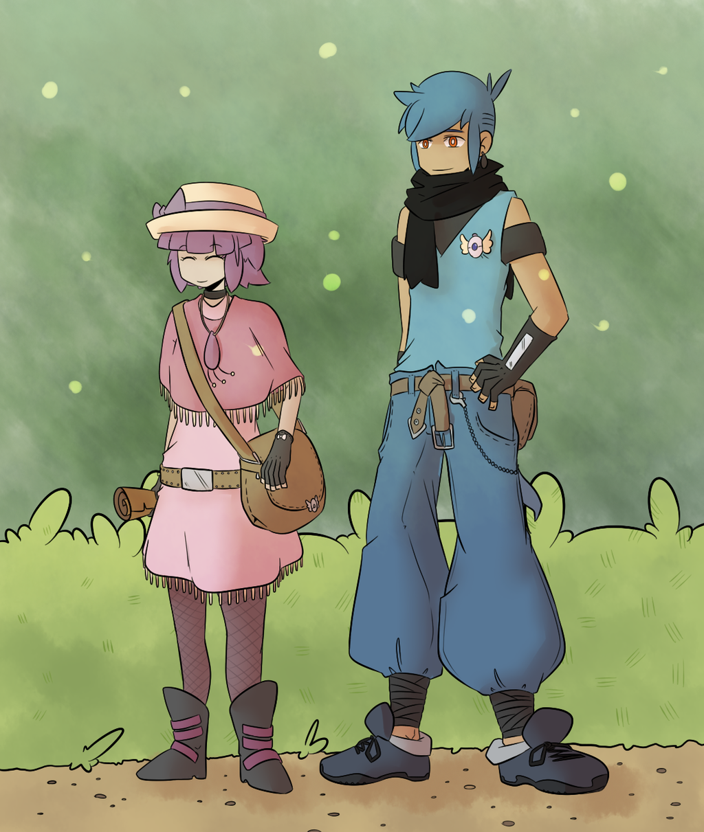 Explorers of Sky: Kaoru and Momo by kuromizuouji