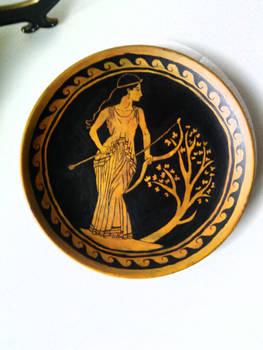 Artemis Painted Plate