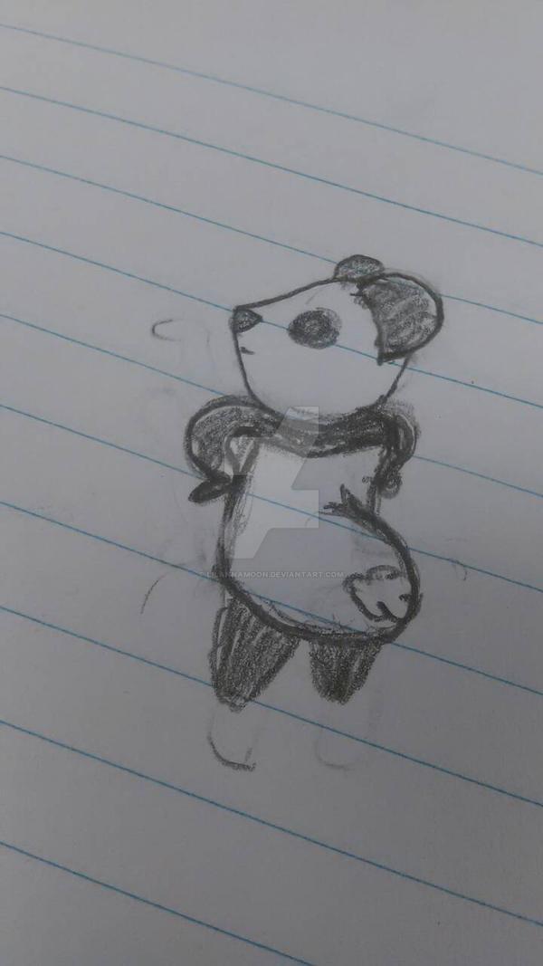sassy panda by lilAnnaMoon