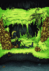 Cave Moss(original size) by annya-yl
