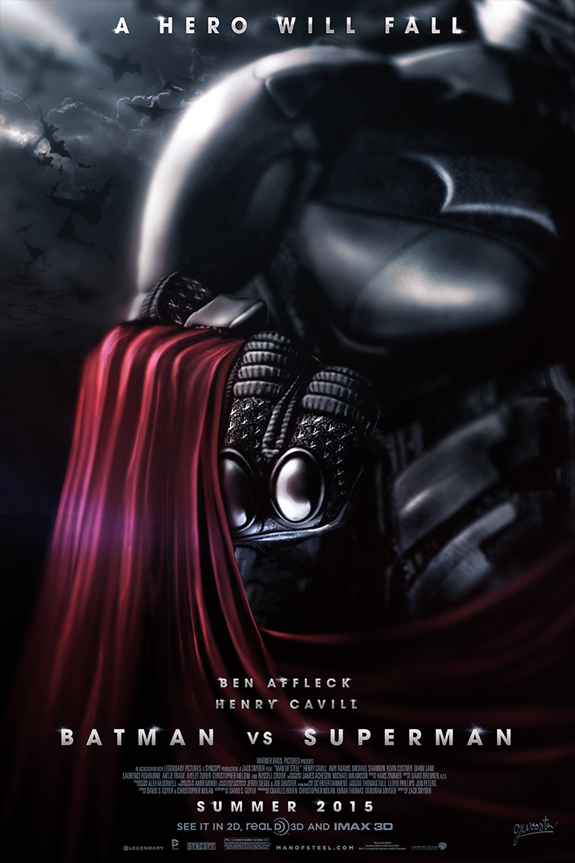 Batman Vs Superman Movie Poster V2 By DISENT