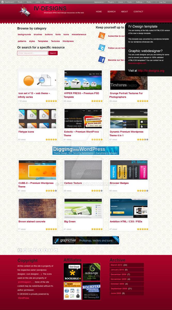 IV-design wordpress template by krike06