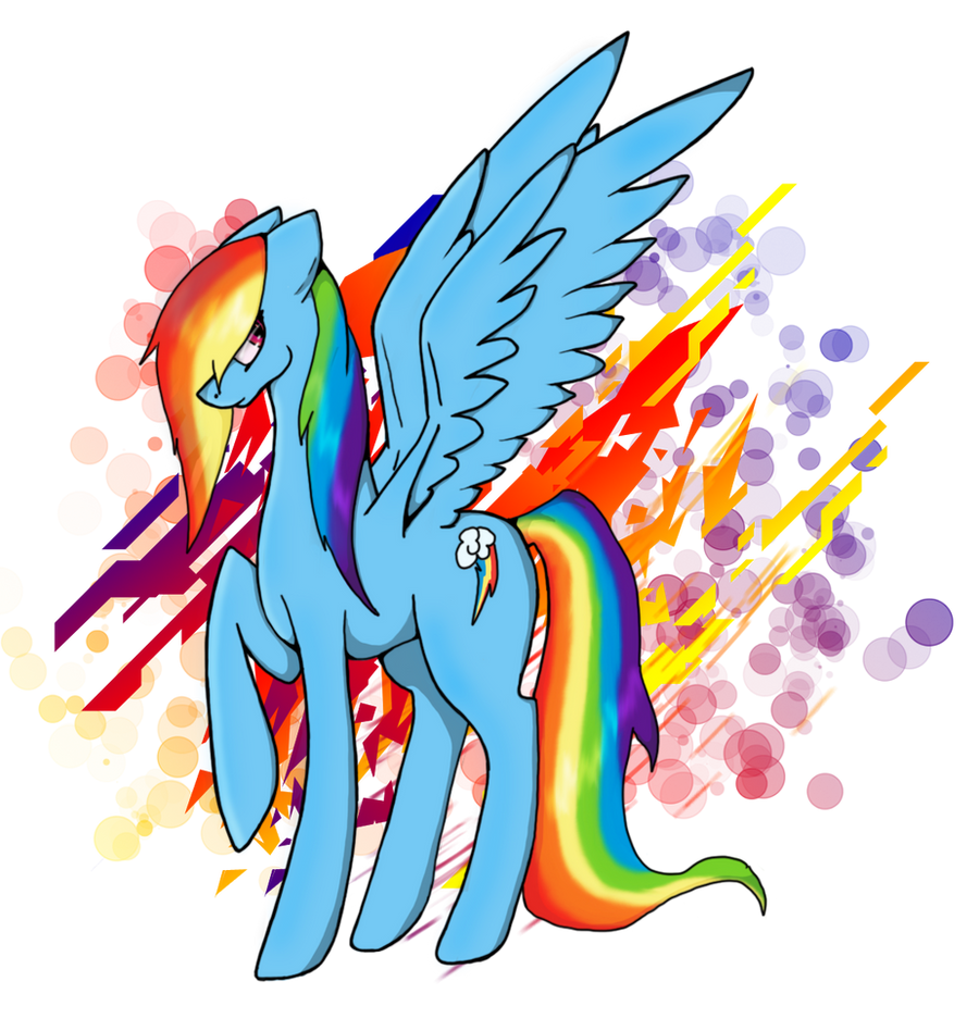 Rainbow Dash by AngelInHeart