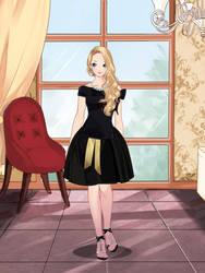 bride in black by Mysteryguy21