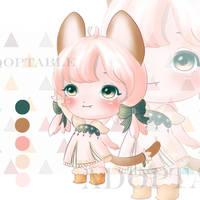 [ADOPTABLE OPEN] Chibi CAT by melikesoup