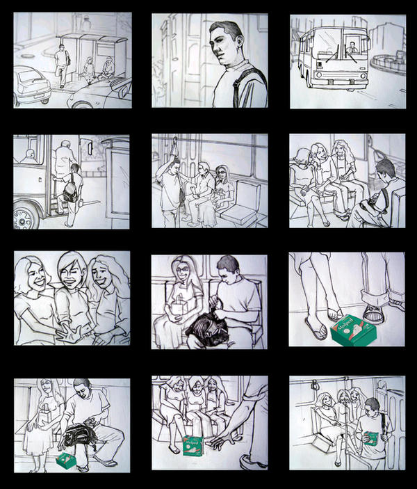 Storyboard For Website Design: Storyboard Template PSD For Your Pre-Production