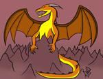 A fiercesome dragon