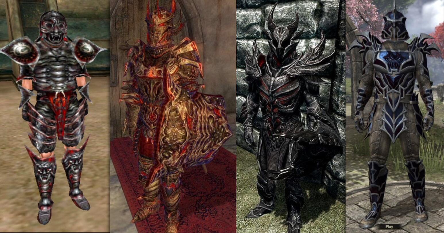 how to draw daedric armor