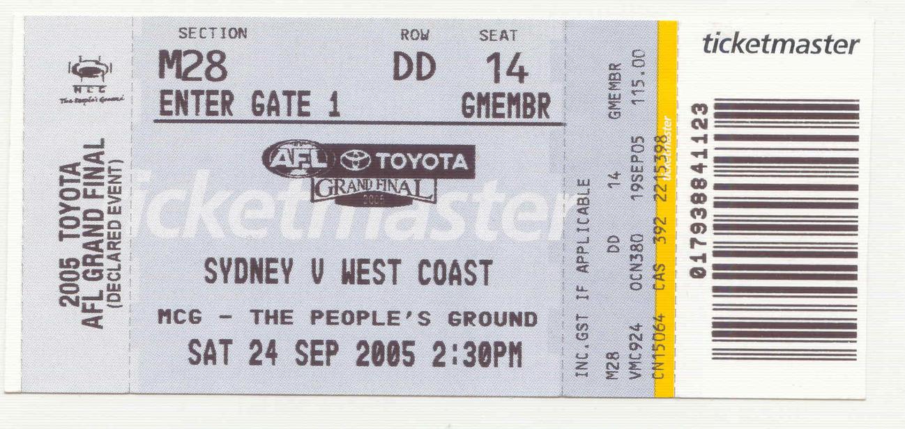 afl grand final tickets - photo #4