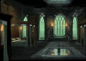Slytherin Dorm by OriginalCopyCat1874