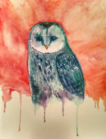 Watercolor Owl by pumkinpie3