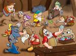 Dwarfs poke
