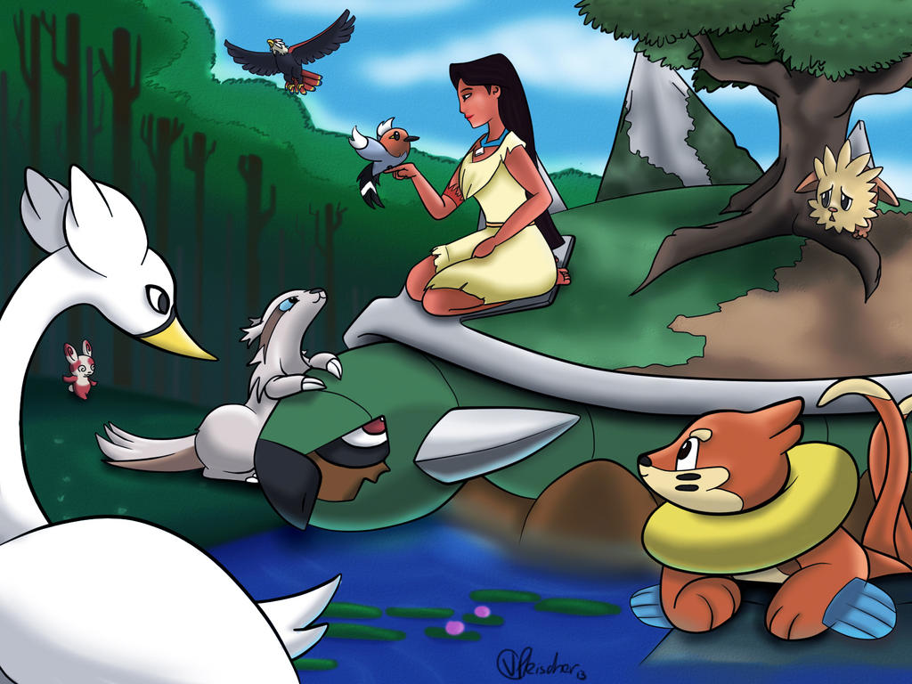 Pocahontas and friends by VibaFleischer