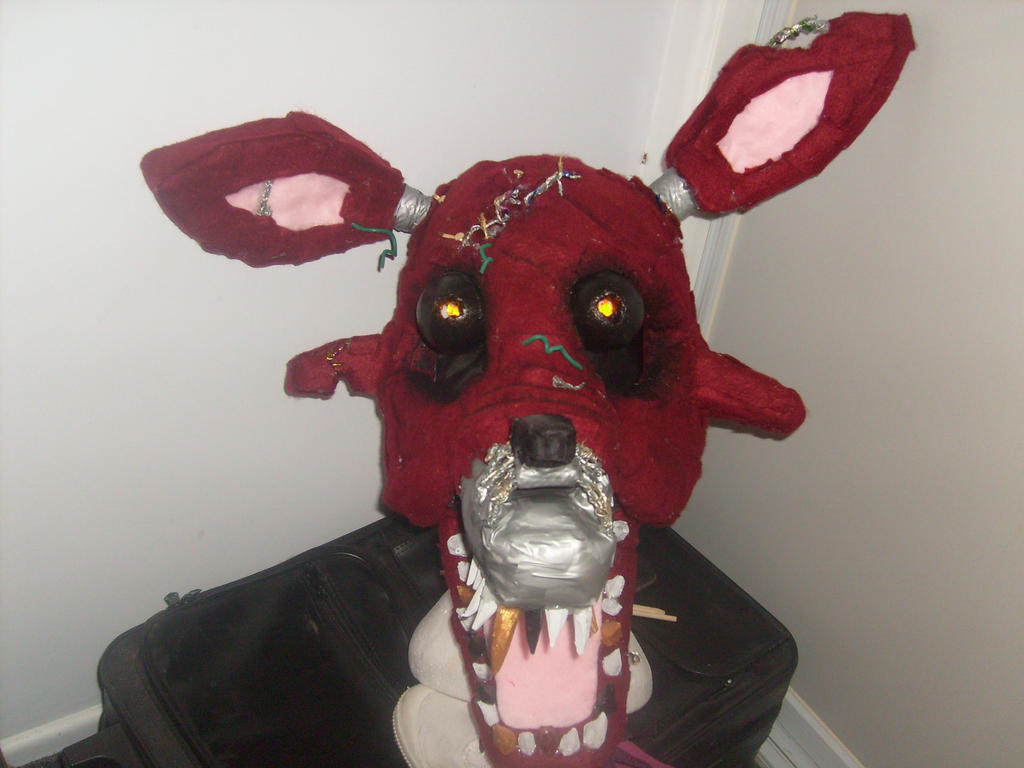 Nightmare Foxy Head Finished.....I Think??? By