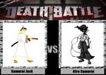 Death Battle idea Samurai Jack vs Afro Samurai