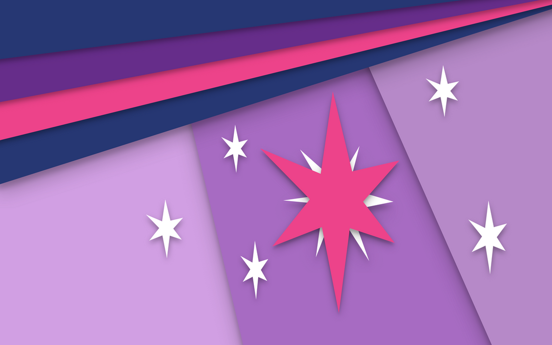 Twilight Sparkle Material Design wallpaper by Caligari-87