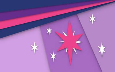 Twilight Sparkle Material Design wallpaper