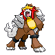 Entei Sprite by Valsheress