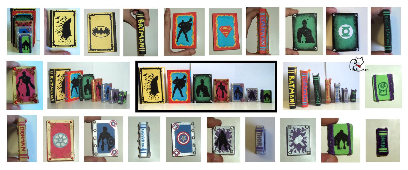Superhero Miniature Book Series by lilchibichan
