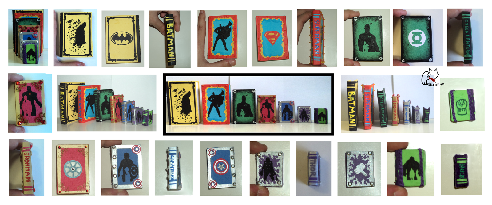 Superhero Miniature Book Series by lilchibichan