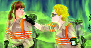 Erin and Holtz outtake [Ghostbusters 2016] by x121887x