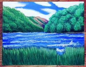 wavy lake