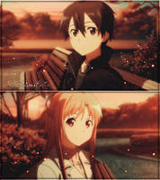 Kirito - Asuna (Collage) by FuumaYahiko