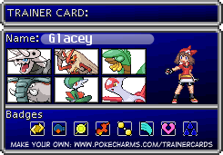 My Trainer card for my Oc and in the games by GlaceyGlace