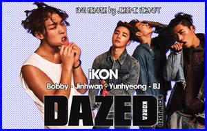iKON for Dazed and Confused Korea (PNG Render) by Jejegaga