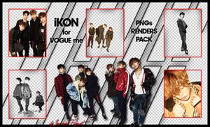 iKON for VOGUE me (PNGs Renders Pack) by Jejegaga